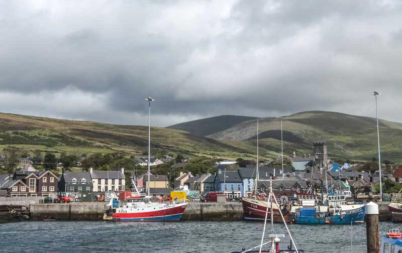 Boats in Dingle Bay on the Wild Atlantic Way